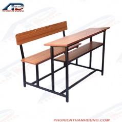 Khung bàn và ghế sắt đi đôi cho trường học